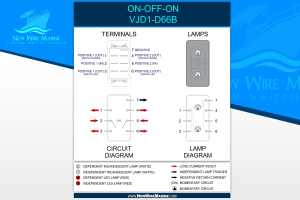 Carling Rocker Switch ONOFFON DPDT  New Wire Marine