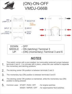 Rocker Switch Wiring Diagrams | New Wire Marine