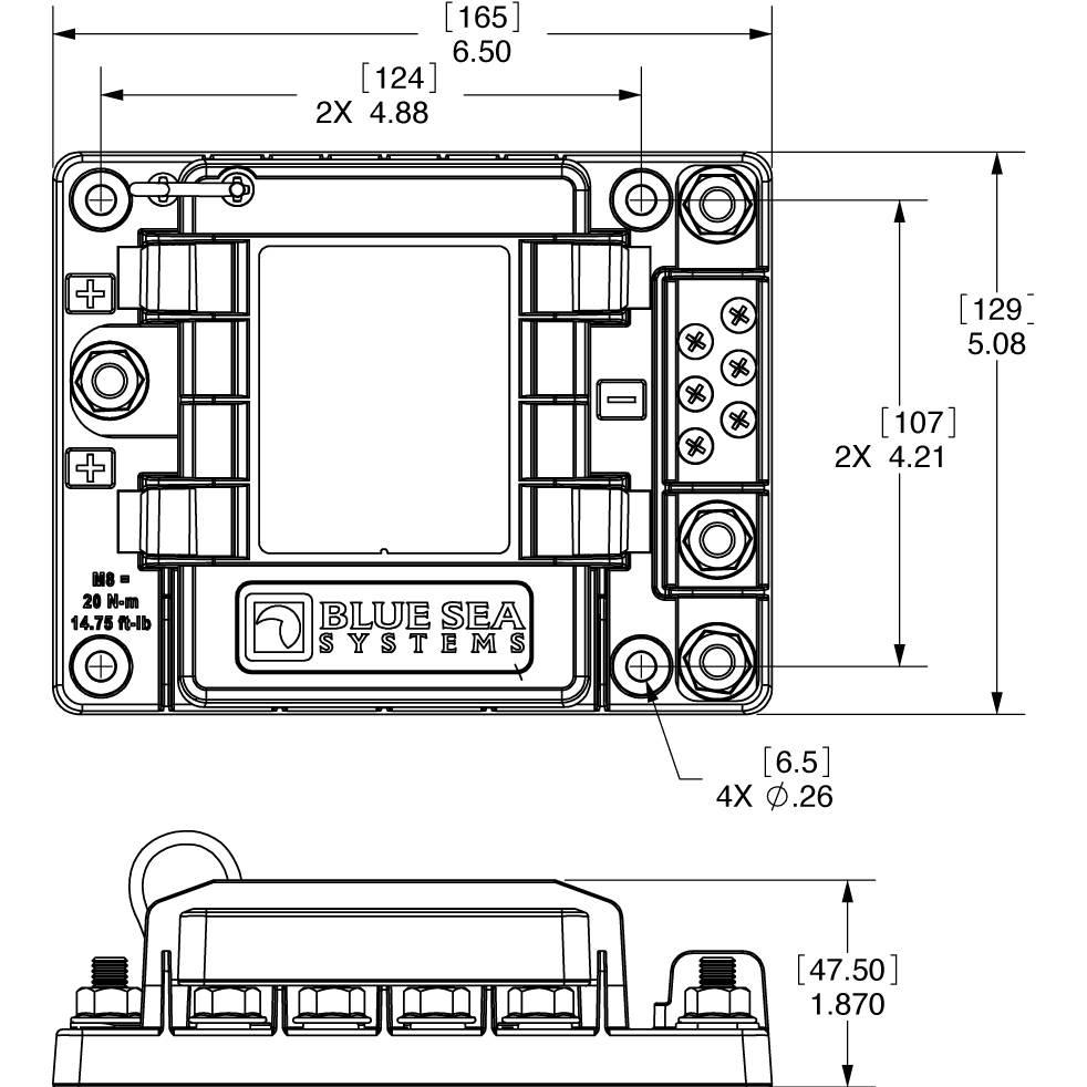 Marine 12 Volt Push Switch