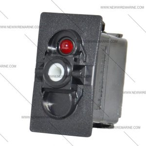 (ON)OFF(ON) | Marine Rocker Switch | Carling Red LED