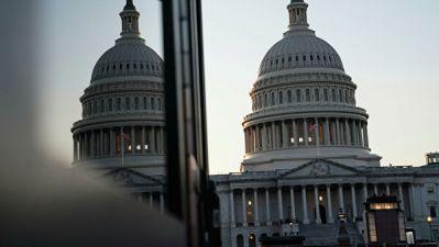Десятки противников и один сторонник Трампа вышли к конгрессу США