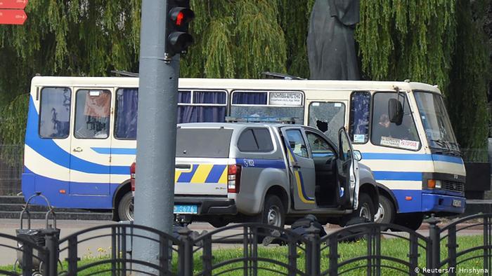 Луцкий террорист несколько минут ждал, пока его арестуют