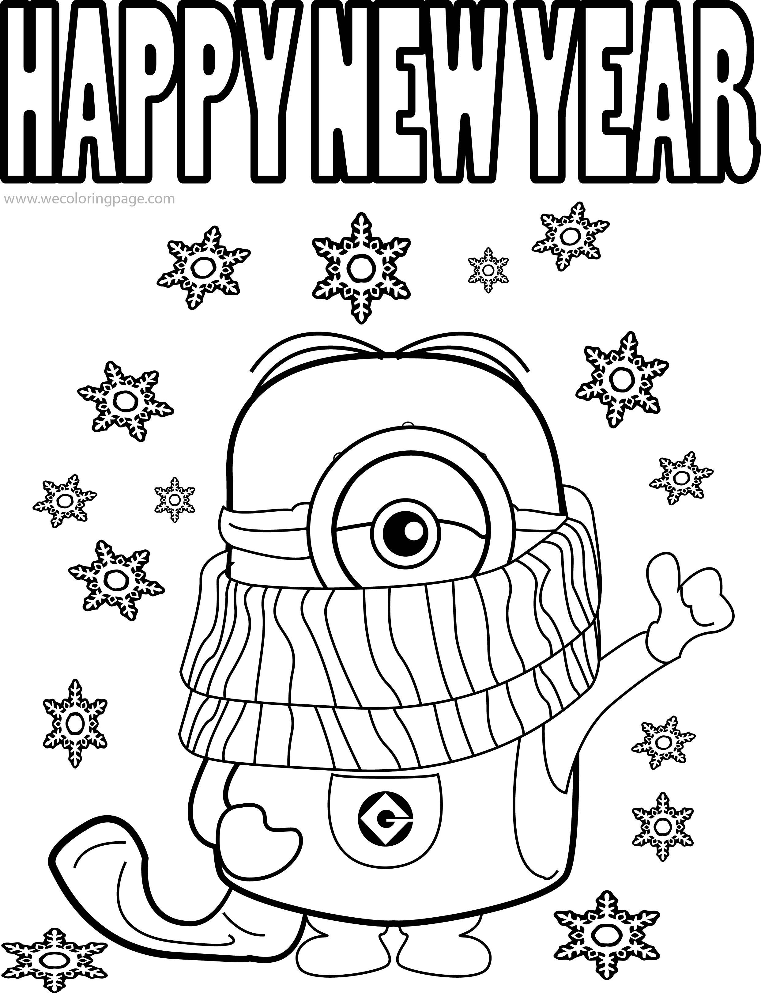 Free Printable Happy New Year Coloring Pages Printable For