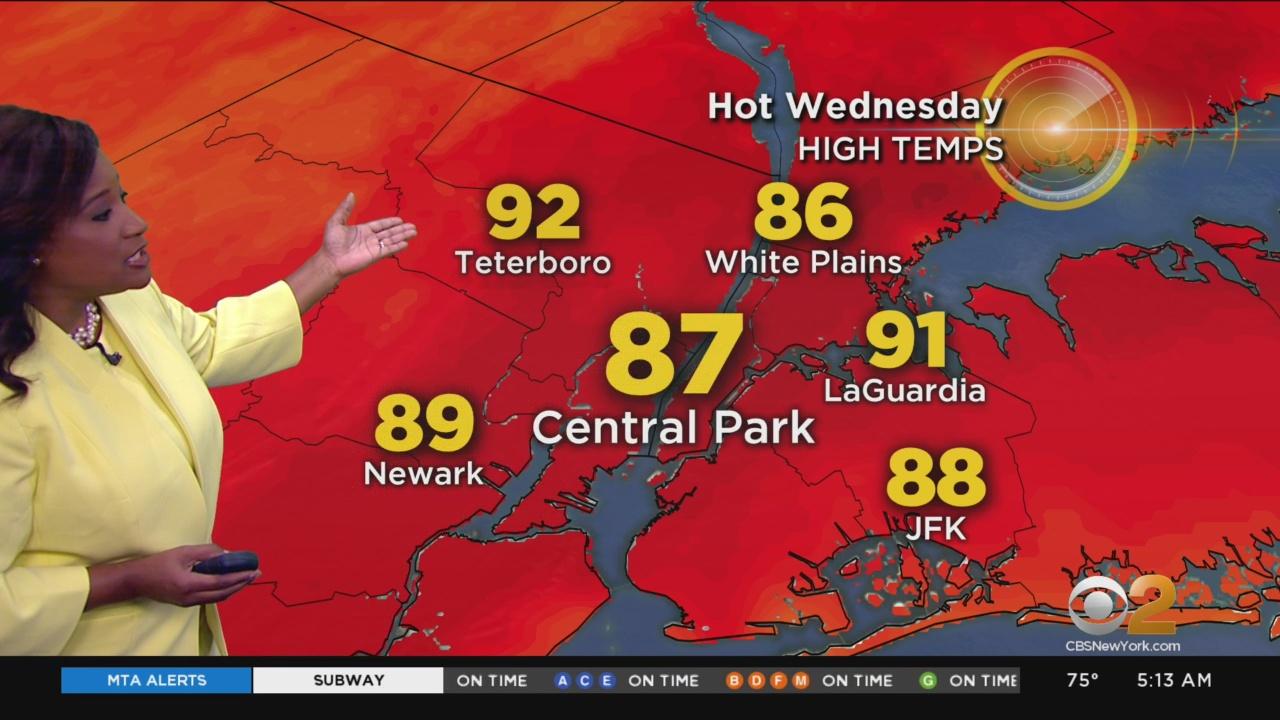 New York Weather: CBS2 8/22 Thursday Morning Forecast