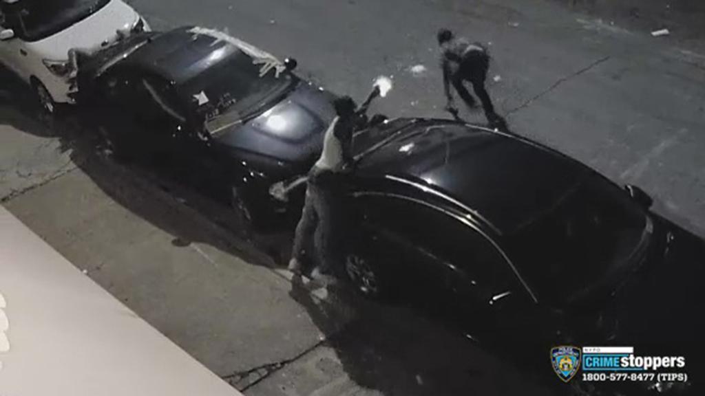 Caught On Camera: 2 Hurt When Gunman Opens Fire On Brooklyn Street