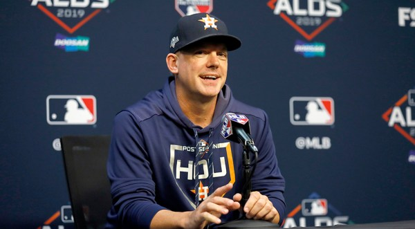Astros Manager AJ Hinch Calls Sign Stealing Suspicions