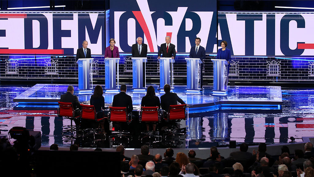 6 Democratic Candidates Meet On Debate Stage In Las Vegas
