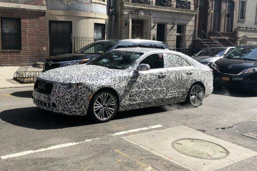 2020 Cadillac CT4 undergoing testing in New York, N.Y.