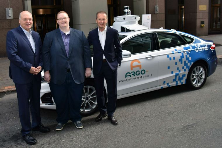 Ford President and CEO Jim Hackett, Argo AI CEO Bryan Salesky and Volkswagen CEO Dr. Herbert Diess announced Volkswagen is joining Ford in investing in Argo AI, the autonomous vehicle technology platform company