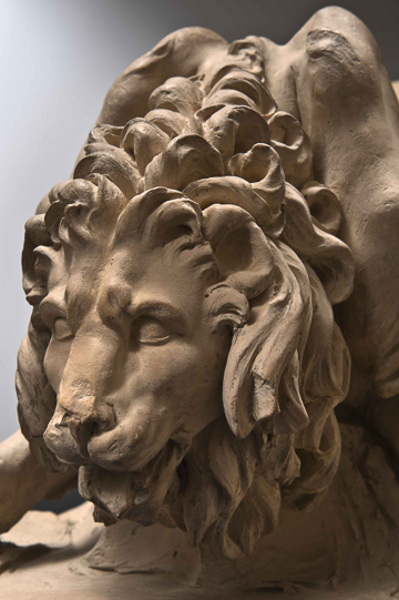 Fig. 4. Gian Lorenzo Bernini, Model for the Lion on the Four Rivers Fountain, 1649–50. Terracotta. Accademia Nazionale di San Luca, Rome, 258. Detail.