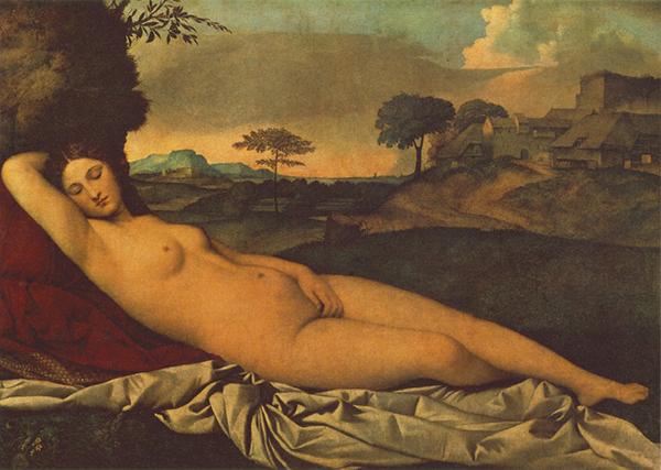 Giorgione, Sleeping Venus, Gemäldegalerie Alte Meister, Dresden.