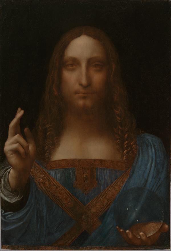 Fig. 9 Leonardo da Vinci (1452–1519), Christ as Salvator Mundi, about 1499 onwards, Oil on walnut, 65.5 x 45.1 cm, Private collection, © 2011 Salvator Mundi, LLC., Photo Tim Nighswander/Imaging4Art