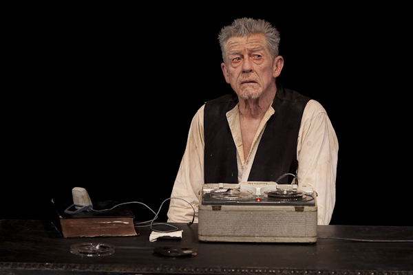 John Hurt in Krapp's Last Tape at BAM. Photo Richard Termine.