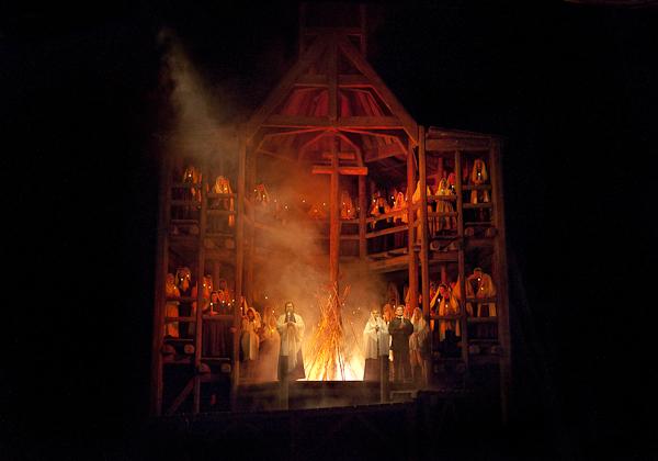 The final scene of Mussorgsky's Khovananshchina. Photo Ken Howard/Metropolitan Opera.