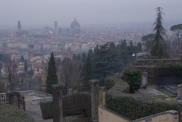 Firenze da San Miniato. Photo © 2011 Michael Miller.
