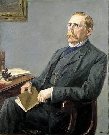 Max Liebermann, Portrait of Wilhelm Bode. Oil on canvas. Alte Nationalgalerie Berlin.