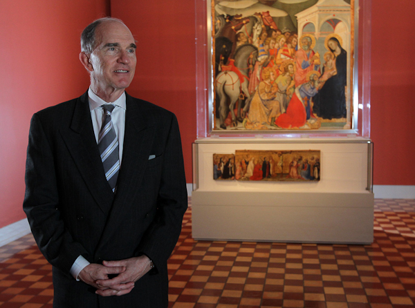 Dr. Boucher and the three panels together at the University of Virginia Art Museum.