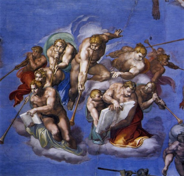 Michelangelo Buonarroti, The Last Judgment: Angels Sounding the Trumps