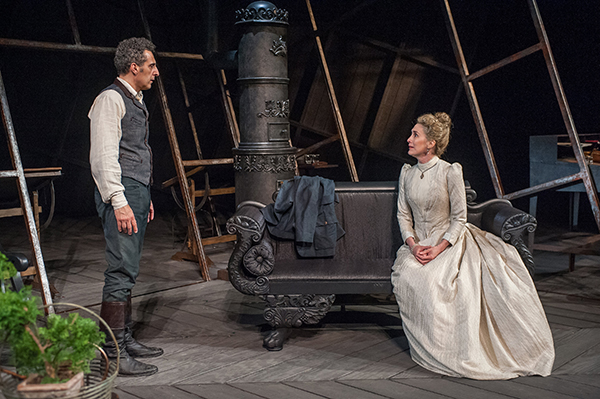 "John Turturro and Katherine Borowitz in ""The Master Builder"" at  BAM. Photo Stephanie Berger."