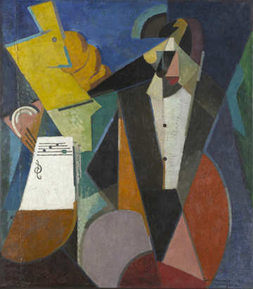 Albert Gleizes (1881–1953), Portrait of Igor Stravinsky (1914). Oil on canvas. Museum of Modern Art, New  York.