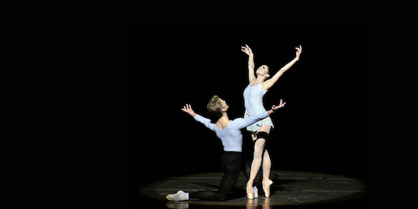 New York City Ballet in Balanchine-Stravinsky Duo Concertant. Photo from nycballet.com.