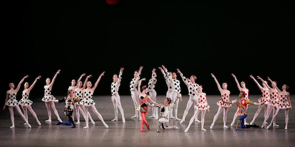 New York City Ballet in Peter Martins-Igor Stravinsky Jeu de Cartes. Photo from nycballet.com.