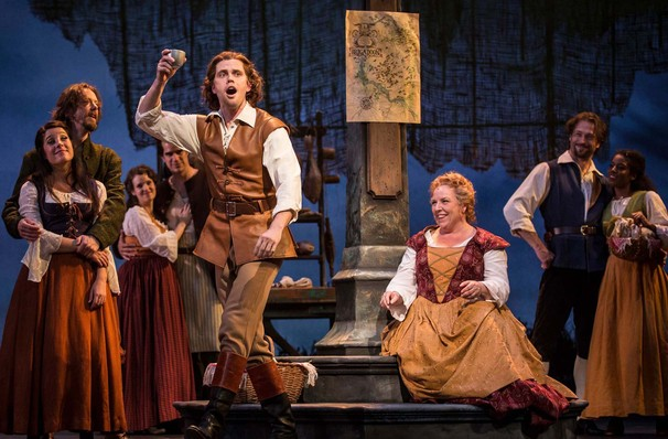 A Scene from Lerner and Loewe's Brigadoon at the Goodman Theatre, Chicago