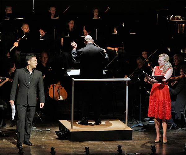 Nicholas Phan and Deanna Breiwick in Franz von Suppé's Franz Schubert. Photo Cory Weaver.