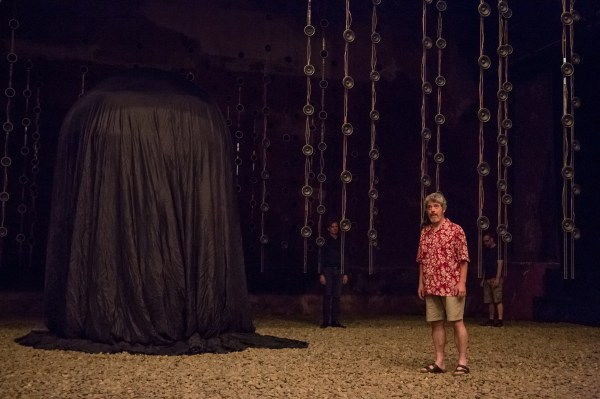 The opening scene of Pan Pan Theater's production of Embers at BAM: Andrew Bennett as Henry. Photo Ed Lefkowicz.