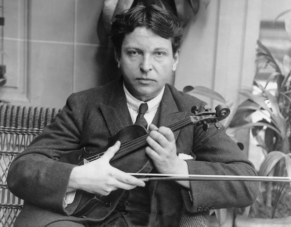 George Enescu and violin. From romaniapozitiva.ro