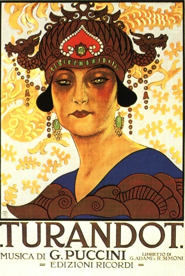 Turandot Poster. Ricordi publisher.