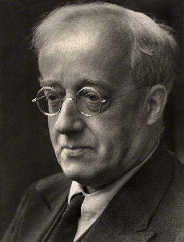 Gustav Holst by Martha Stern, bromide print, late 1920s