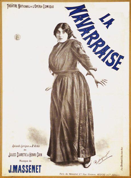 Poster for La Navarraise.