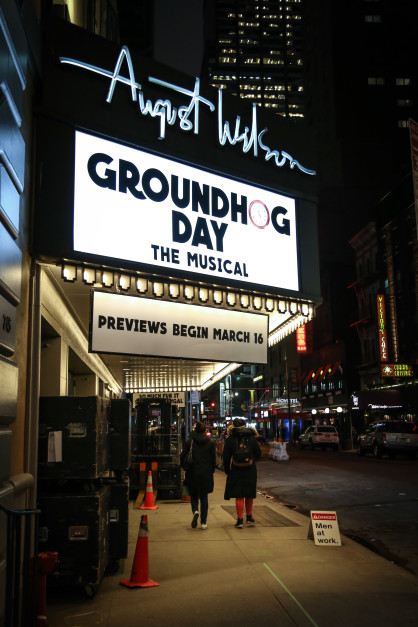 The Show Must Go On: The Details Behind That First Preview of Groundhog Day | Playbill