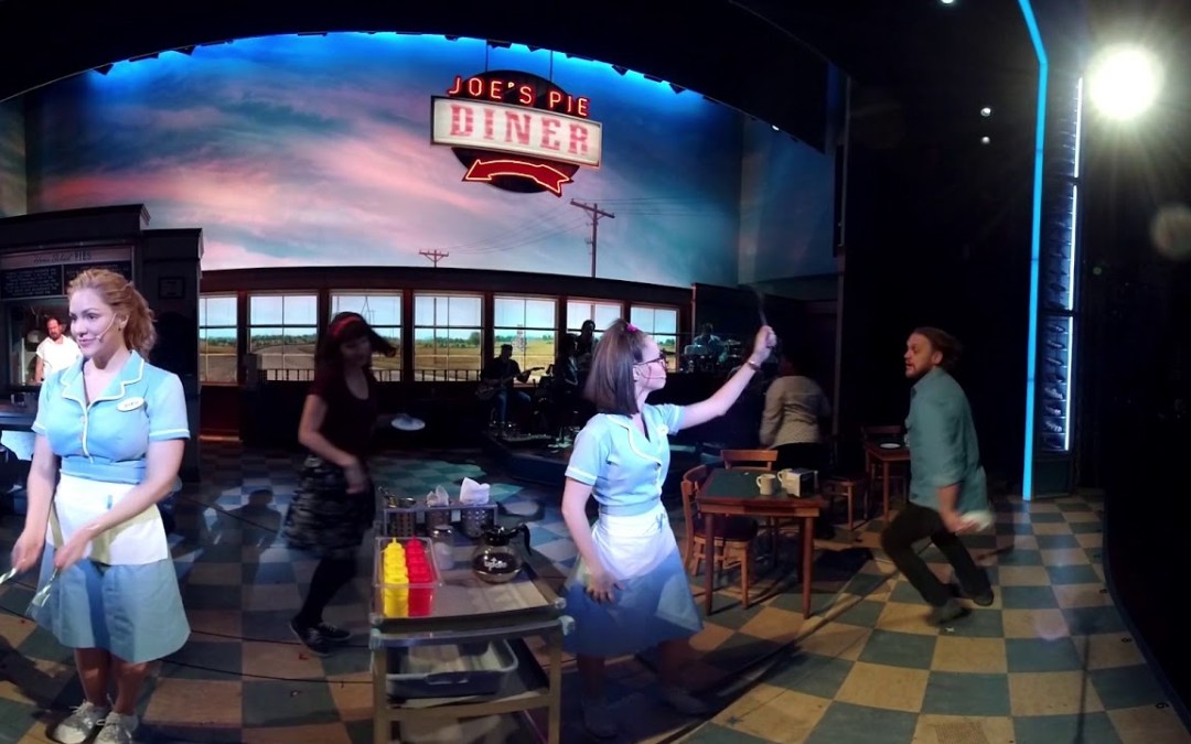 """360 Video: On-Stage at Broadway's """"Waitress"""""""