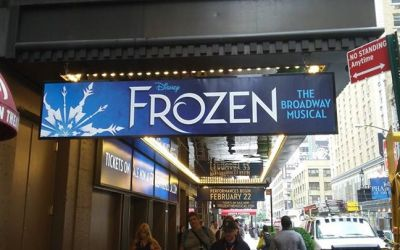 ON THE MARQUEE: Get ready to BUILD A SNOWMAN and LET IT GO!!! The front of house bill…