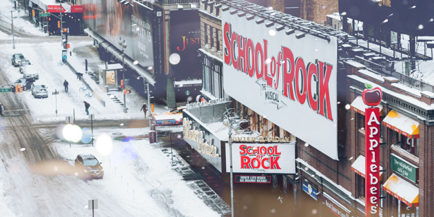 The Show Must Go On! Broadway Continues Despite Snowfall
