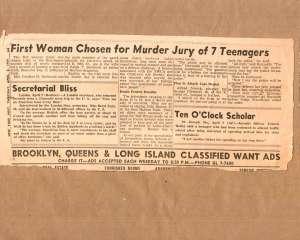 Jury selection in trial of Red Wings gang 1959.