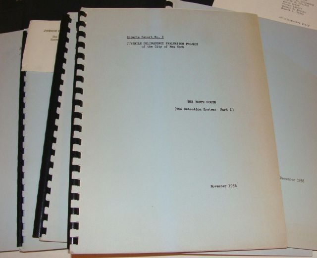 Reports on juvenile delinquency NYC 1950sency NYC 1950s