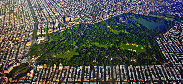 Prospect Park Aerial Shot