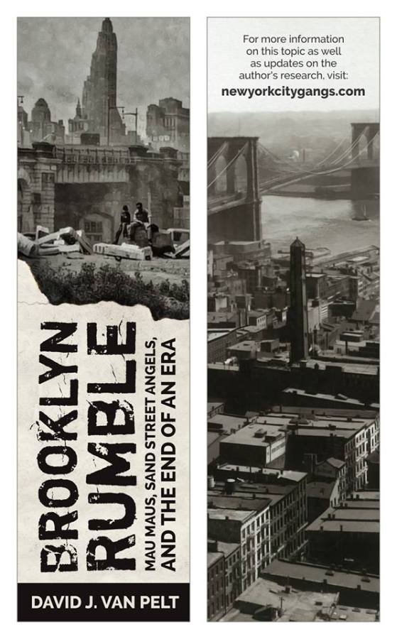 Brooklyn Rumble bookmark front and back