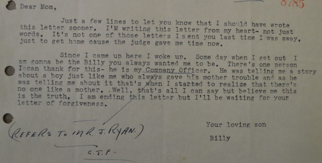 Billy's Letter Feb.25, 1953