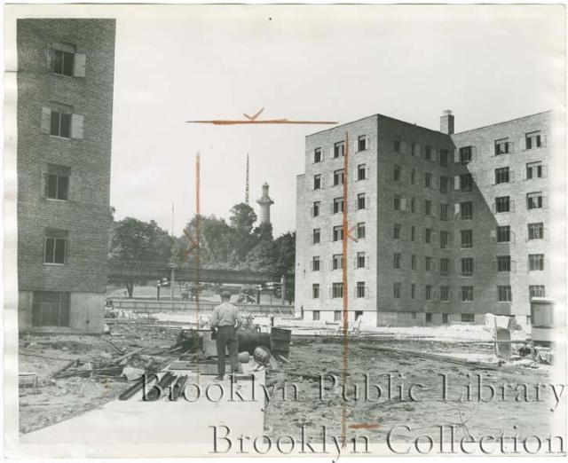 The Fort Greene Projects being built in 1942.