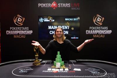 Elliot Smith Wins PokerStars Championship Macau Main Event for HK$2,877,500