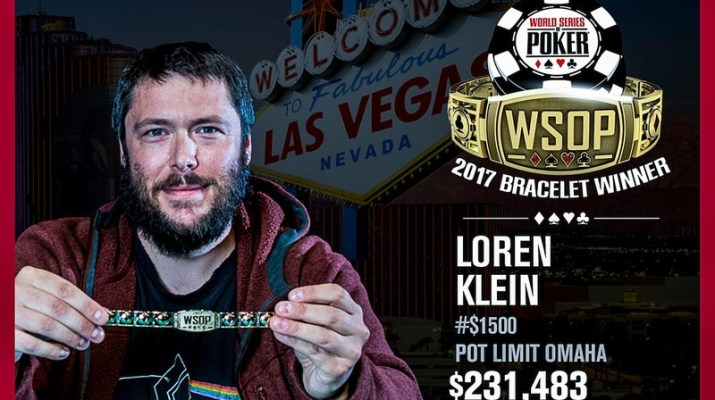 Loren Klein Wins 2017 World Series of Poker $1,500 Pot-Limit Omaha Event