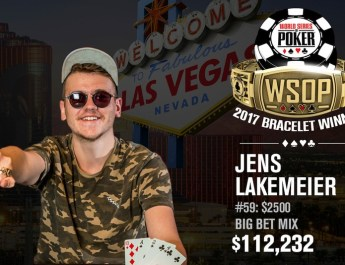 Jens Lakemeier Wins 2017 World Series of Poker $2,500 Mixed Big Bet
