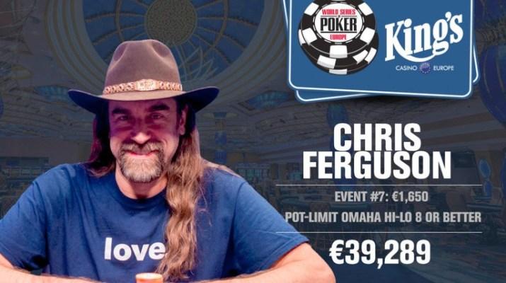 Chris Ferguson Wins 2017 World Series of Poker Europe €1,650 Pot-Limit Omaha Eight-or-Better Event