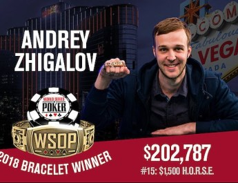 Andrey Zhigalov Wins 2018 World Series of Poker $1,500 H.O.R.S.E. Event
