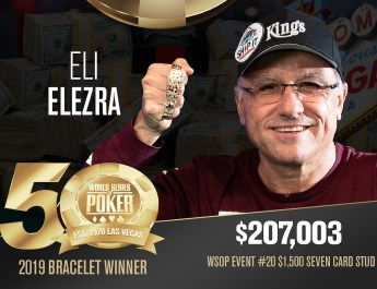 Eli Elezra Wins Fourth WSOP Bracelet, Defeats Anthony Zinno in Seven-Card Stud
