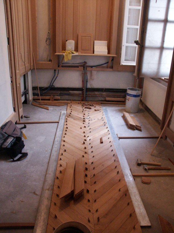 Installation Old New York City Wood Floors